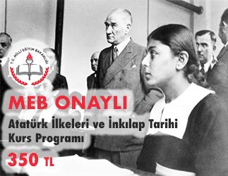 Atatürk İlkeleri ve İnkılap Tarihi Kurs Programı 1