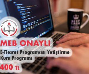 E-Ticaret Programcısı Yetiştirme Kurs Programı