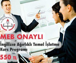 İngilizce Ağırlıklı Temel İşletme Kurs Programı