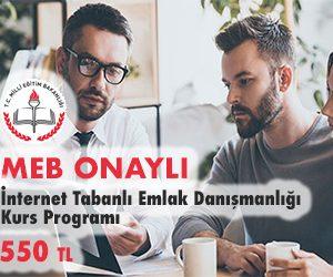 İnternet Tabanlı Emlak Danışmanlığı Kurs Programı