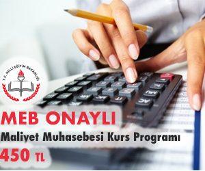 Maliyet Muhasebesi Kurs Programı