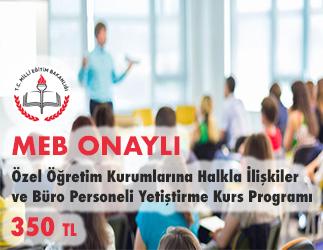Özel Öğretim Kurumlarına Halkla İlişkiler ve Büro Personeli Yetiştirme Kurs Programı 1