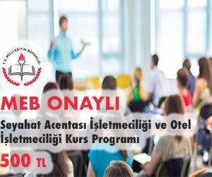 Seyahat Acentası İşletmeciliği ve Otel İşletmeciliği Kurs Programı