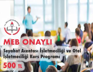 Seyahat Acentası İşletmeciliği ve Otel İşletmeciliği Kurs Programı 1