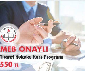 Ticaret Hukuku Kurs Programı